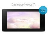 Bild: Käufer in Deutschland können sich derzeit für weitere Informationen bezüglich Marktstart des neuen Google Nexus 7 per Newsletter informieren.