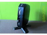 Bild: Mini-PC Acer Revo: Der Kleinstrechner wird mit Standfuß ausgeliefert, er auch auf der Rückseite von Monitoren angebracht werden kann.