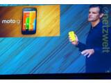 Bild: Motorola-CEO stellt in Sao Paolo das Moto G vor, netzwelt verfolgte die Präsentation in London.