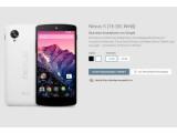 Bild: Das Nexus 5 ist ab sofort bei Google Play verfügbar. Nutzer müssen aber mit langen Wartezeiten rechnen.