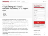 Bild: Protest gegen das neue Kommentarsystem von Youtube: Die Petition unterzeichneten schon rund 190.000 Nutzer.