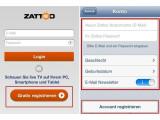 Bild: Registrieren Sie sich bei Zattoo