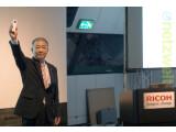 Bild: Ricoh-Präsident Noboru Akahane stellte auf der IFA in Berlin die Ricoh Theta vor.