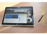 Bild: Der S-Pen genannte Stift gehört fest zum Samsung Galaxy Note 10.1 - auch im Jahr 2014.