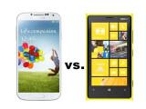 Bild: Das Samsung Galaxy S4 (links) trifft im netzwelt-Vergleich auf das Nokia Lumia 920 (rechts).