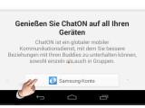 Bild: Samsung-Konto auswählen.