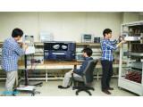 Bild: Samsung-Mitarbeiter haben eine 5G-Verbindung per Mobilfunk hergestellt.
