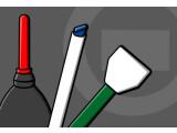 Bild: Für die Sensorreinigung gibt es verschiedene Hilfsmittel.