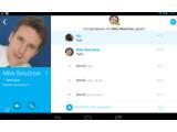 Bild: Skype im neuen Design jetzt auch auf Tablets.