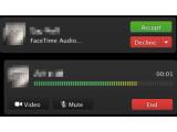 Bild: Spart unter anderem Bandbreite: Über FaceTime Audio sollen kostenlose VoIP-Telefonate unter Apple-Nutzern möglich werden.
