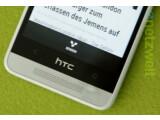 Bild: Nach dem Test nicht mehr makellos das HTC One Mini.