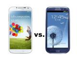 Bild: Treffen der Generationen: Das Galaxy S4 im Vergleich mit dem Vorgänger Galaxy S3.
