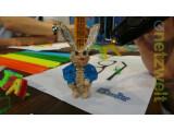 Bild: Mit Übung und Talent lässt sich mit dem 3Doodler auch ein solcher Hase erstellen.