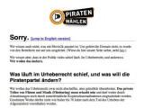 Bild: Umleitung: movie2k.to-Anfragen werden auf die Seite der Piratenpartei weitergeführt.