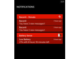 Bild: Windows Phone Blue wird mit einem Notification Center ausgestattet sein.