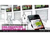 Bild: WLAN-Hotspots in der BayArena: In einem Video erklärt die Telekom ihre Vision vom multimedialen Erlebnisraum im Fußballstadion.