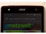 Bild: Das Acer Liquid E3 bietet einen Foto-LED auf der Frontseite.