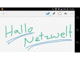 Bild: In der Android-App von Evernote lassen sich nun auch handschriftliche Notizen erstellen.