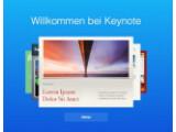 Bild: Apple hat iWork umfassend aktualisiert: Im Bild die Keynote-App unter iWork für iCloud beta.