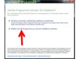Bild: Auswahl der zu installierenden Microsoft Software.
