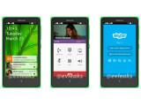 """Bild: Diese Bilder sollen die Nutzeroberfläche des Nokia """"Normandy"""" zeigen."""