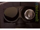 Bild: Der Blick in die Oculus Rift – zu Anschauungszwecken haben wir die zweite Linse entfernt.