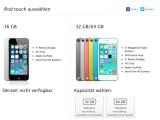 Bild: Derzeit nicht verfügbar: Die Einstiegsversion des iPod Touch wird durch eine überarbeitete und günstigere Variante ersetzt.