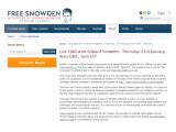 Bild: Am Donnerstag, den 23. Januar, findet im Netz ab 21 Uhr deutscher Zeit ein Live-Chat mit Edward Snowden ab.
