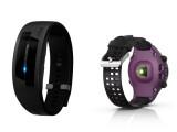 Bild: Epson stellt den Fitness-Tracker Pulsense (links) und die GPS-Sportuhr Runsense (rechts) vor.