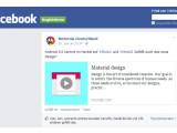 Bild: Dieser Facebook-Auftritt von Motorola Deutschland ist gefälscht. Ebenso wie die Meldung über ein Android L-Update für das Moto X und das Moto G.