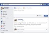 Bild: Facebook experimentierte Anfang 2012 mit dem News-Feed.