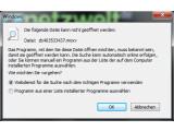 Bild: Diese Fehlermeldung sehen Sie, wenn Sie eine Datei öffnen und das Dateiformat von Windows nicht unterstützt wird.
