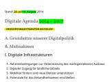 Bild: Die finale Version der Digitalen Agenda kursiert bereits im Netz.