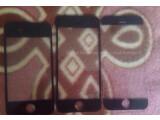 Bild: Dieses Foto soll die Frontseite des iPhone 6 (rechts) im Vergleich zu seinen Vorgängern iPhone 4s (links) und iPhone 5s (Mitte) zeigen.