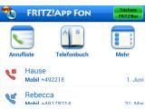 """Bild: Fritz!App Fon verwandelt das Smartphone im WLAN in einen """"normalen"""" DECT-Hörer – allerdings einen sehr komfortablen mit sehr guter Hardware."""