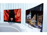 Bild: Die gebogenen 4K-OLED-Fernseher sind auf der IFA zu sehen.