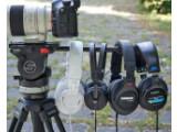 Bild: Geschlossene Kopfhörer sind perfekt für Videoton-Recording – Audio Technica MTH-M50, Sennheiser HD 25-1 II, Shure SRH440, Sony MDR-7506 v.l.n.r.