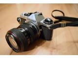 Bild: Klassische Spiegelreflexkameras wie diese Pentax ME sind auch heute noch begehrte Sammlerobjekte für Retro-Fotografen.