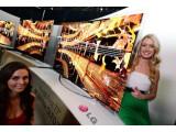 Bild: Auf Knopfdruck gebogen: Der OLED-TV von LG mit flexiblem Display.