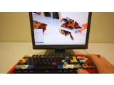 Bild: Die Lego-Tastatur von Jason Allemann im Betrieb.