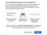 Bild: Mehr Sicherheit: Zweistufige Anmeldung für die Apple-ID.