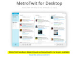 Bild: MetroTwit ist nicht länger als Download verfügbar. Der Dienst wurde eingestellt.