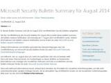 Bild: Der Microsoft Patchday im August bringt insbesondere Sicherheitsfixes für den Internet Explorer
