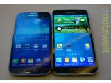 Bild: Netzwelt wagt einen ersten Vergleich zwischen Galaxy S4 (links) und Galaxy S5 (rechts).