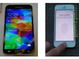 Bild: Netzwelt wagt einen ersten Vergleich zwischen Galaxy S5 (links) und iPhone 5s (rechts).
