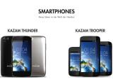 Bild: Newcomer auf dem Markt wie Kazam machen etablierten Anbietern wie Samsung mit preiswerten Hightech-Smartphones Konkurrenz.