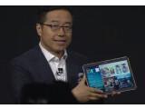 Bild: Samsung-Manager DJ Lee präsentierte in New York das Galaxy Tab S.