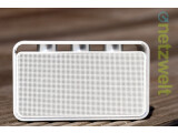 Bild: Der Schein trügt: Mit Abmessungen von 12,5 x 7,3 x 5,2 Zentimetern gehört der Rapoo A600 zu den kleineren Bluetooth-Speakern.