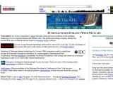 Bild: Der Screenshot zeigt die Startseite des legendären Internetbrowsers Netscape am 10. Januar 1996, gesammelt