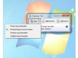 Bild: Das Snipping Tool bietet verschiedene Option für Screenshots.